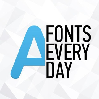 Telegram channel Fonts Everyday logo