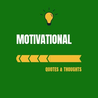 Telegram channel Motivational Quotes Thoughts Status logo